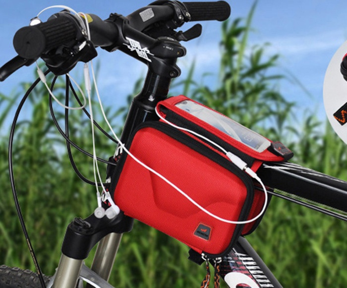 ACACIA Bike Chartered Double Saddle Bag Cell Phone Package Bilateral Saddle Bag With Touch Screen(China (Mainland))