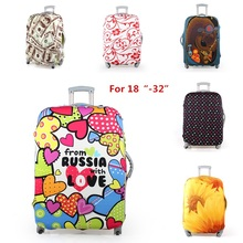 New! 6 graffiti colors 18-32 inch elastic travel luggage protective covers stretchable protector suitcase cover 28 30 inch(China (Mainland))