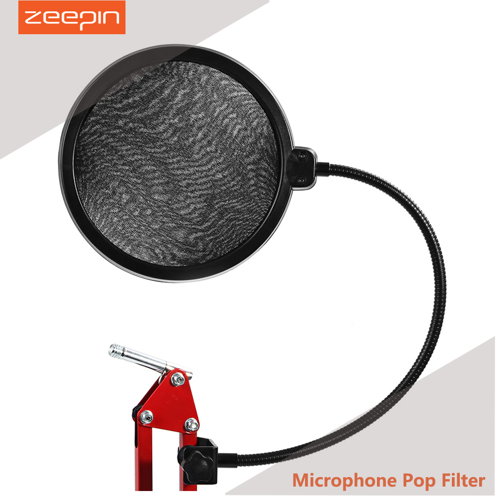 Microphone Pop Filter Double Studio Equipment Microfone For Essential Recording Studio Microphone With Flexible Gooseneck Holder