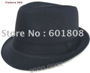 black Fedora hat 100% Cotton Classical fashion Fedora caps fashion caps popular caps Mix&Match