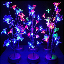 Novelty Colorful LED Tree Branch Night Light Dolphin Flower Dragonfly Bedside Table Lamp Home Decorative Gadget Lighting Lampada(China (Mainland))