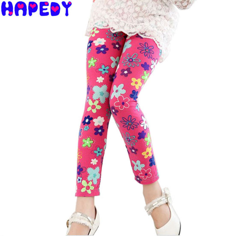Baby Kids Childrens printing Flower Toddler Classic Leggings girls pants Girls legging 2-14Ybaby girl leggings SN0116(China (Mainland))
