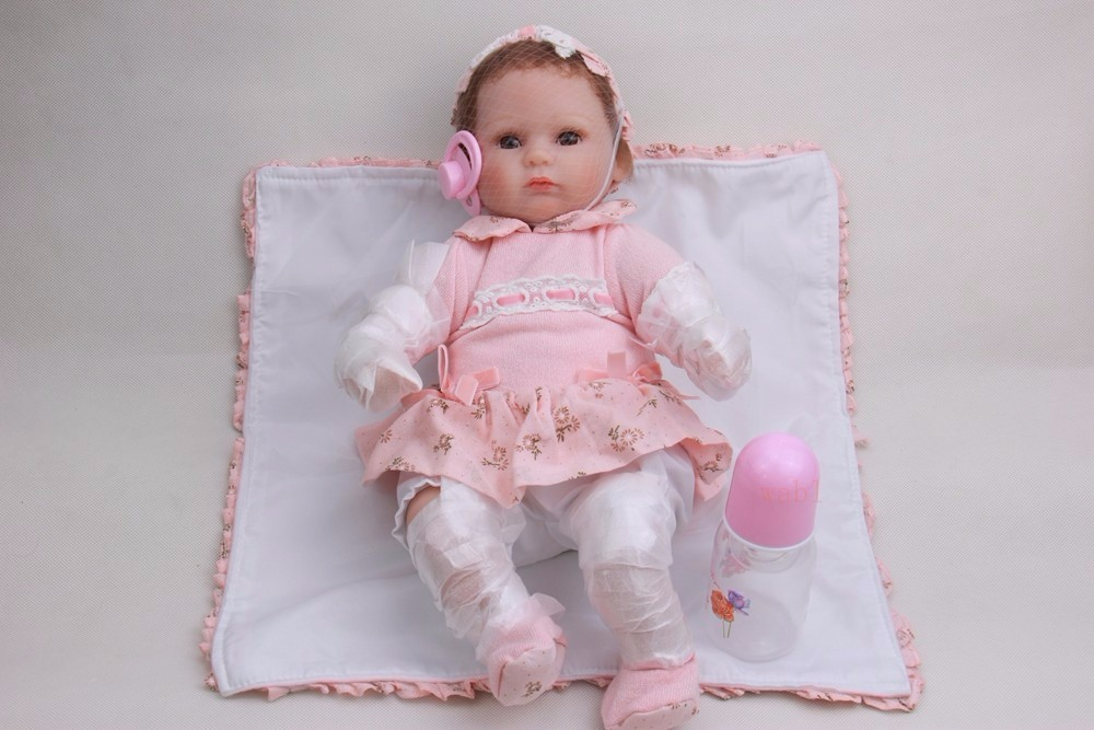 45cm Silicone Reborn Baby Doll Toys For Girl Lifelike 45cm Reborn Babies Play House Toy Kids Child Birthday Gift Girl Real Touch