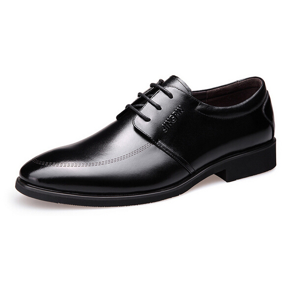 2015 Fashion High Quality Men Dress Shoes Genuine Leather Sapato Social Masculino Formal Business Shoes Male Plus Size 8M02185<br><br>Aliexpress