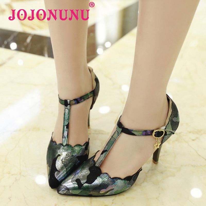 women stiletto ankle strap high heel sandals sexy fashion ladies heeled footwear heels shoes plus big size 30-50 P16614-1