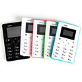 Hottest Mini Card Phone AIEK M5 Color Screen English Russian Arabic Keyboard Cell phone 4 5mm