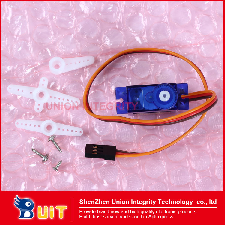 Free Shipping 1 PCS/LOT SG90 9g Mini Micro Servo for RC for RC 250 450 Helicopter Airplane Car(China (Mainland))