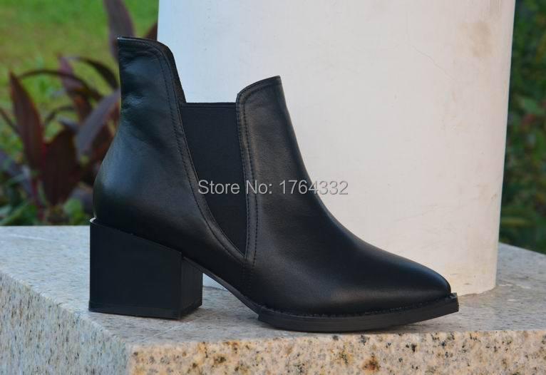 Здесь можно купить  Big Size Thick Square Heels Ankle Boots For Women Spring Autumn Winter Sexy Zipper Color Mix Motorcycle Boots Fashion 2016  Обувь