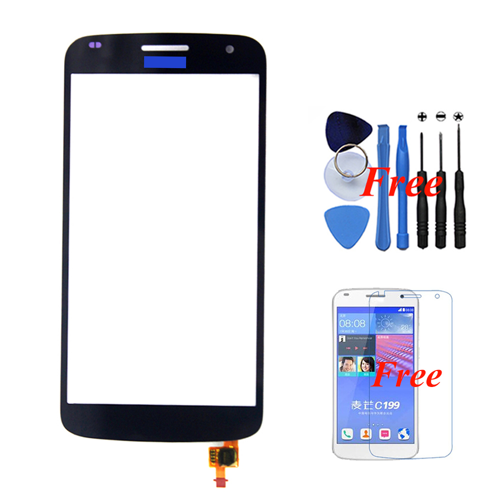 Original Front Outer Touch Screen Panel Digitizer Glass Assembly Huawei Ascend C199 Replacement Free Gifts - Black Xinghai store