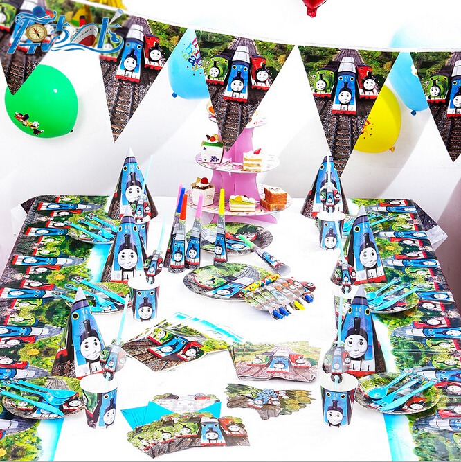 90pcs New Thomas&friends Theme Party Luxury kids boys and girls birthday decoration plates cups straws napkins party supplie(China (Mainland))