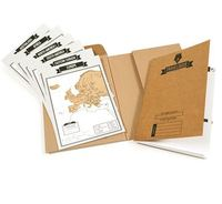 Travel Size Scratch Map+Diary, Similar with Deluxe Scratch Map ,Size 17*22cm (Notebook+8 Pieces of Map)