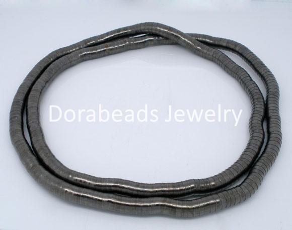 Free Shipping! 2 PCs Gunmetal Flexible Snake Chain Necklaces 105cm (B04545)(China (Mainland))