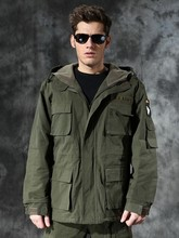 US Army Military style hooded jackets for men pilot cotton coat usa army 101 air force bomber Wind M65 jacket(China (Mainland))