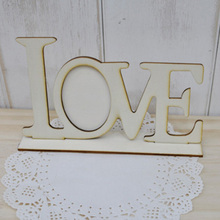 1pcs Fashion DIY laser cutting wood frame Creative LOVE Photo Frame White embryo qualities of hand-painted graffiti 7z-cx297(China (Mainland))