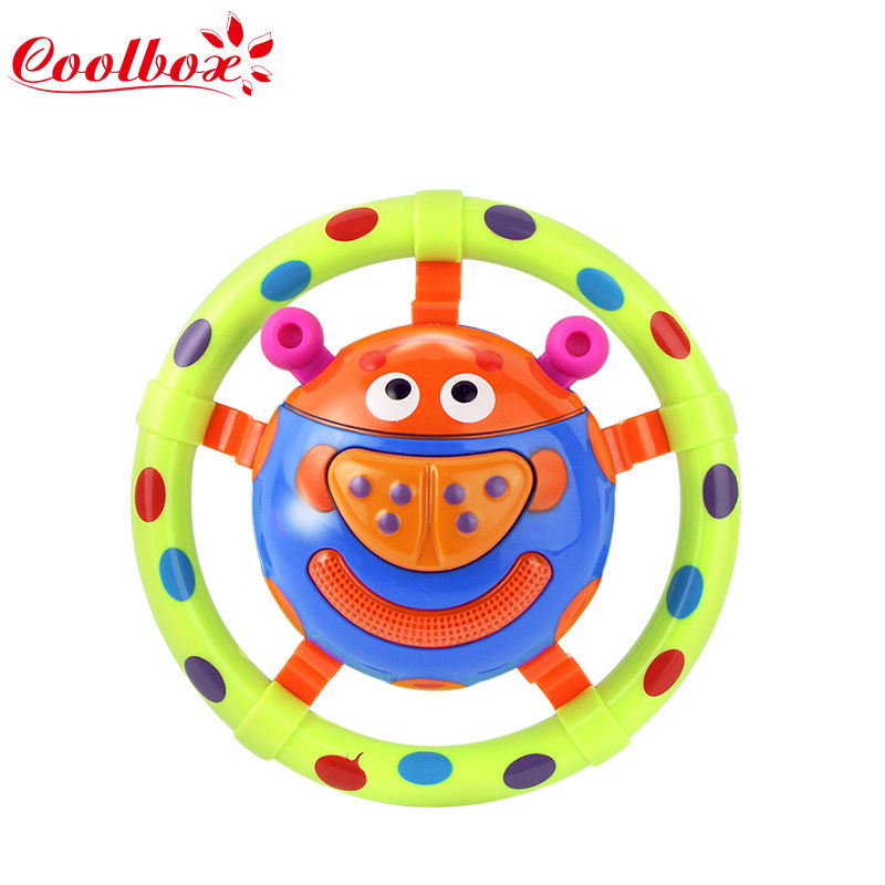 Hot Baby Toy Fun sound small beetle grasping rattles small toys.Develop Baby Intelligence,Baby Grasping toy Train Grasp ability(China (Mainland))