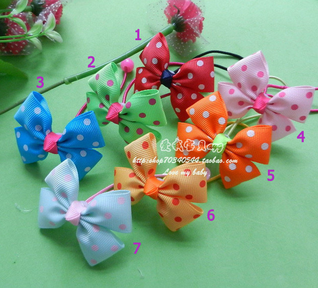 Free shipping A variety of colors Child  hair accessory  the butterfly shaped hair line wholesale and retail