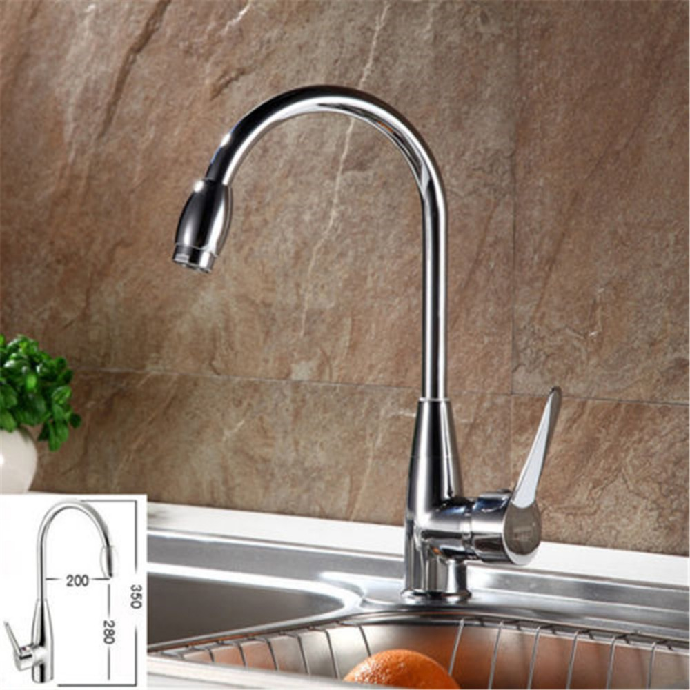 hot and cold water zinc alloy kitchen faucet Stainless Stain deck mounted kitchen sink faucet,mixer tap(China (Mainland))