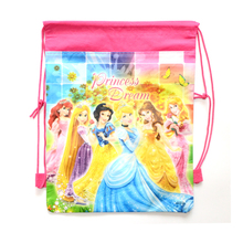 1Pic Children School Bags Princess Drawstring Bags Cartoon Mochila For Girls&Boys Multipurpose School Backpack Christmas Gifts(China (Mainland))