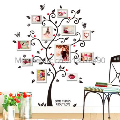 Бесплатная доставка : 100 * 120 см / 40 * 48in 3D DIY съемный фотография дерево пвх стены наклейки / стикеры стены фрески искусства декора дома