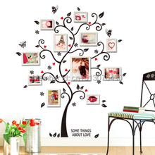 Free Shipping:100*120Cm/40*48in 3D DIY Removable Photo Tree Pvc Wall Decals/Adhesive Wall Stickers Mural Art Home Decor(China (Mainland))