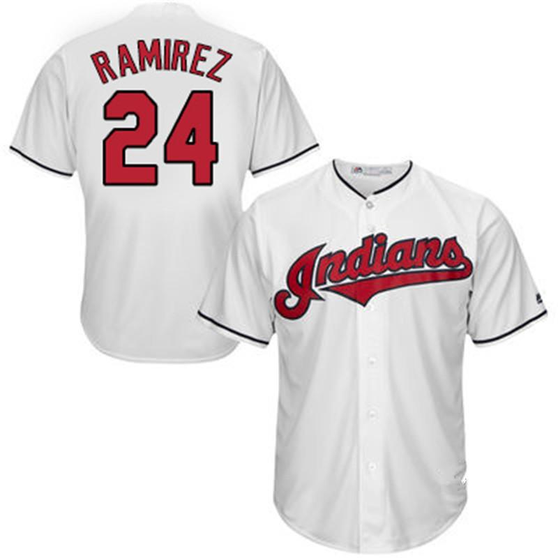 2016 New fabric Mens Baseball Jersey #24 Manny Ramirez Embroidery 100% navy blue Jersey(China (Mainland))
