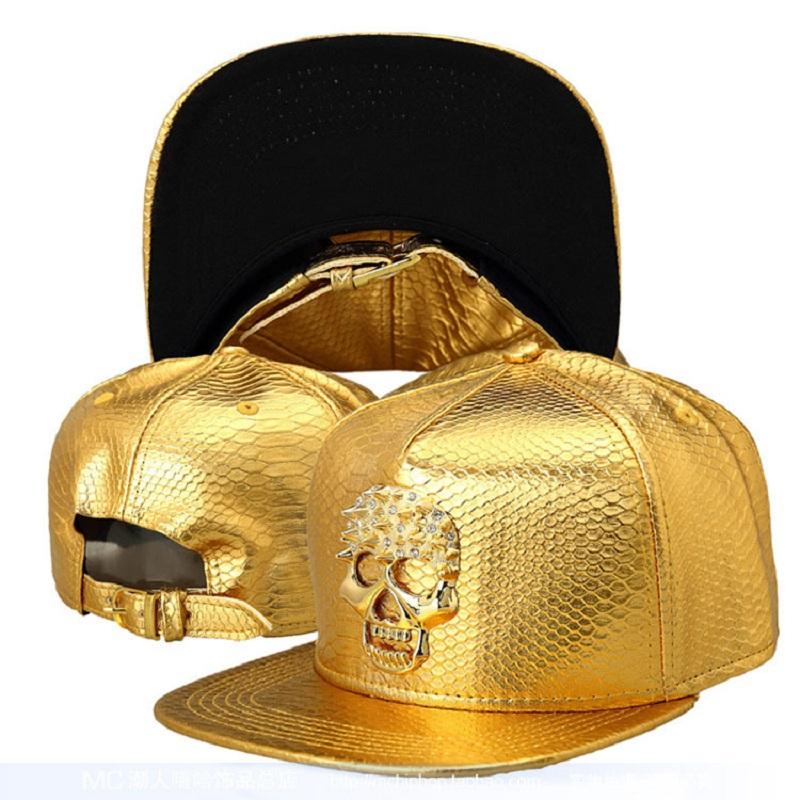 New fashion hip-hop baseball caps for men and women casual Alloy diamonds Crocodile pattern cap punk street dance hiphop hats(China (Mainland))