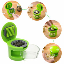 Hot Sale EDC Gear Kitchen Gadgets Novelty Quickly Garlic Cooking Slicer Crusher Camping Barbecue Tool DGN-41(China (Mainland))