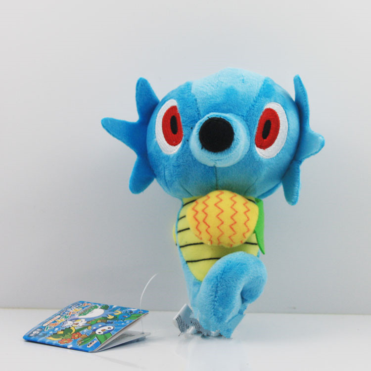 EMS 100pcs/lot Pokmon Plush Toy 5.514CM Horsea Stuffed Plush Toy Doll With Tag Gift<br><br>Aliexpress