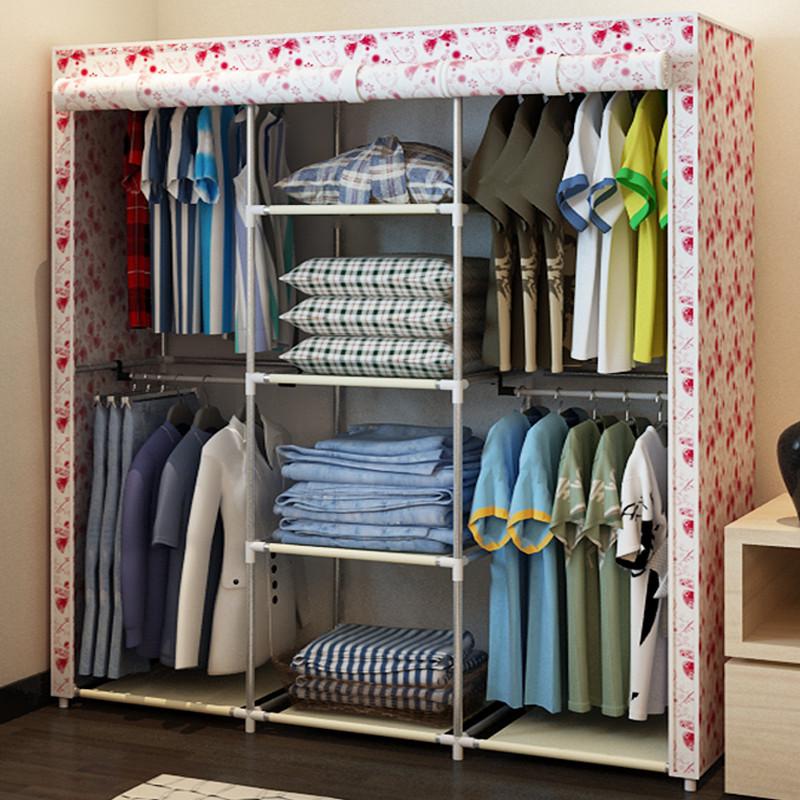 Ikea Double Folding Assembly Simple Wardrobe Storage