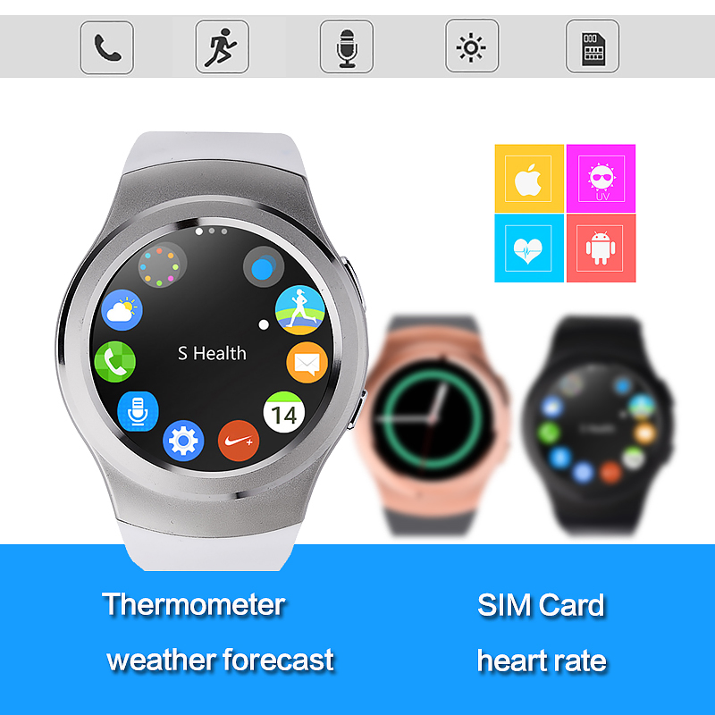 No.1 G3 Full Circular Bluetooth Smartwatch SIM GPRS Heart Rate Sports Smart Watch for iPhone Samsung Huawei Xiaomi Android Phone(China (Mainland))