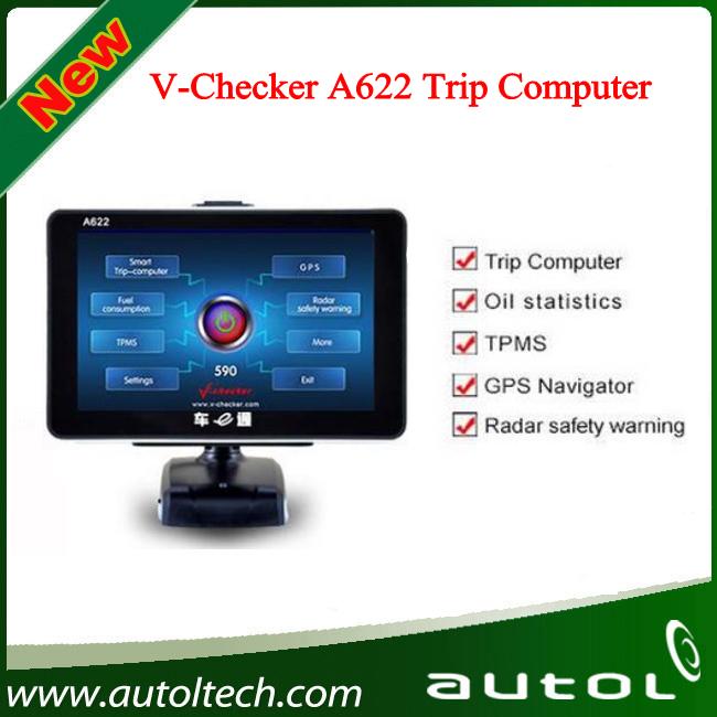 V-checker A622 TPMS GPS OBD2 car trip computer V checker OBD2 Scanner(China (Mainland))