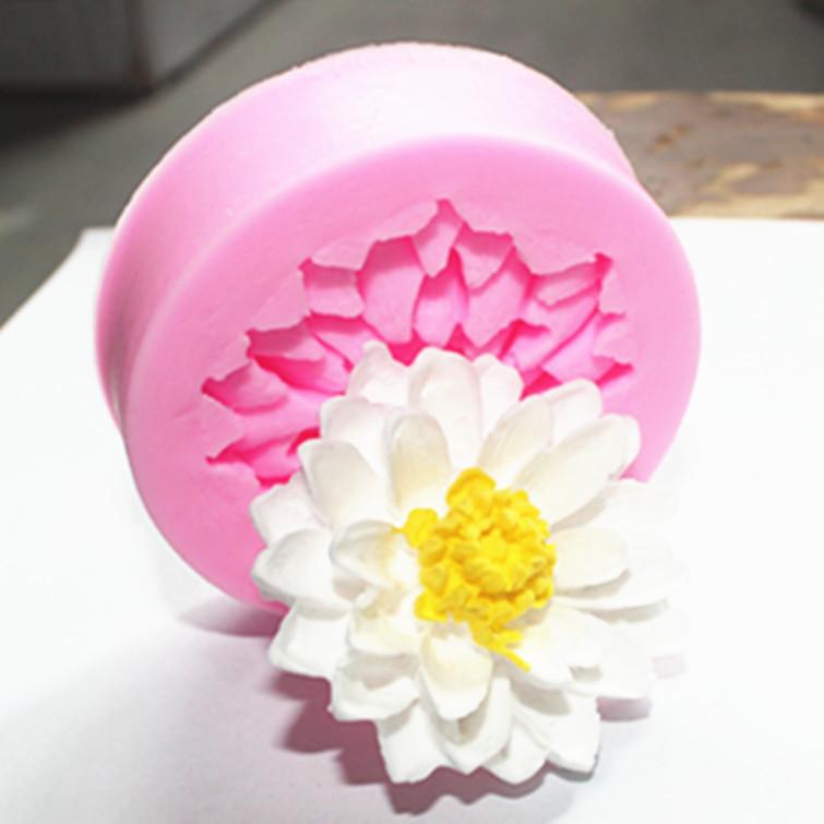Mini Lotus fondant silicone mold(China (Mainland))