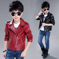 NEW Toddler Leather Jacket 2016 New Brand Spring Baby Boys Leather Jacket PU Coat High Quality
