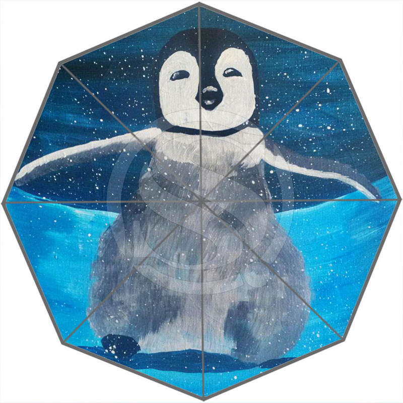 Hot Sale Cool Cute penguins Adults Universal Design Fashion Foldable Sun and Rain Umbrella Free Shipping SQ0602-P033(China (Mainland))