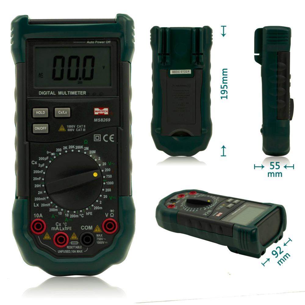 Lcr Meter High Voltage : Mastech ms  digital multimeter lcr meter ac dc