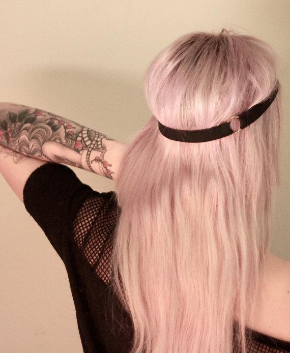 Rita Headband Harness Bondage Hair font b Accessory b font Rose with Heart