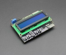 Free Shipping LCD Keypad Shield LCD1602 LCD 1602 Module Display for arduino ATMEGA328 ATMEGA2560 raspberry pi UNO blue screen(China (Mainland))