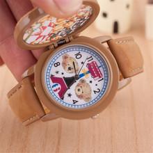 Recién llegado de cuarzo masculino relogio, mujeres oso encantador del reloj digital. alta calidad de los niños de la historieta del reloj de pulsera