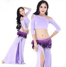 Новое поступление костюмы танец живота старший модальные half-рукава топ + брюки танец живота комплект для женщин танец живота костюмы ml