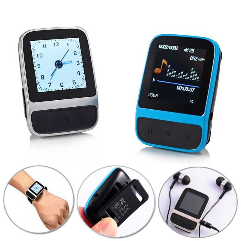 MP4 Hifi Player Lossless Music MP3 HIFI Music Player FM Radio Mini MP3 Clip Player With Pedometer Recording Games Clock Display