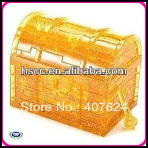 Free shipping Hot sale DIY 3D Crystal Treasure box jigsaw puzzles ,Educational toys(China (Mainland))