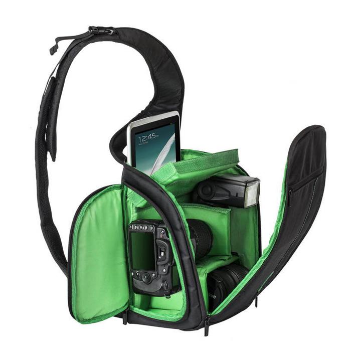 Hot High Quality Waterproof DSLR Camera Video bag Case Sling Flipside Outdoor Digital Shoulder Camera Video Bag Factory Price(China (Mainland))