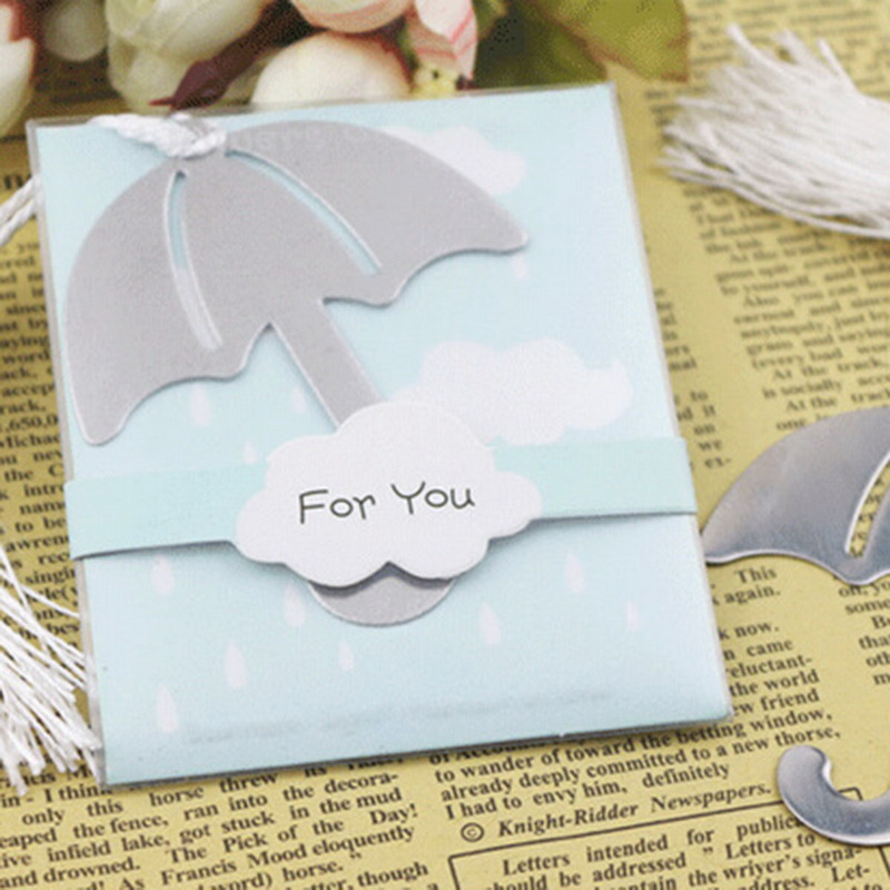 High Quality Book Markers Umbrella Stainless Steel Bookmark Silver Tone 20.5cmx6.2cm,1PC(China (Mainland))
