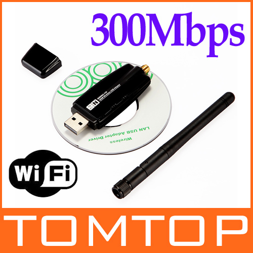Mini 300Mbps Wireless USB WiFi Wi Fi Wi-Fi Network Adapter 2.4GHz ISM with External Antenna Networking 802.11n/g/b(China (Mainland))