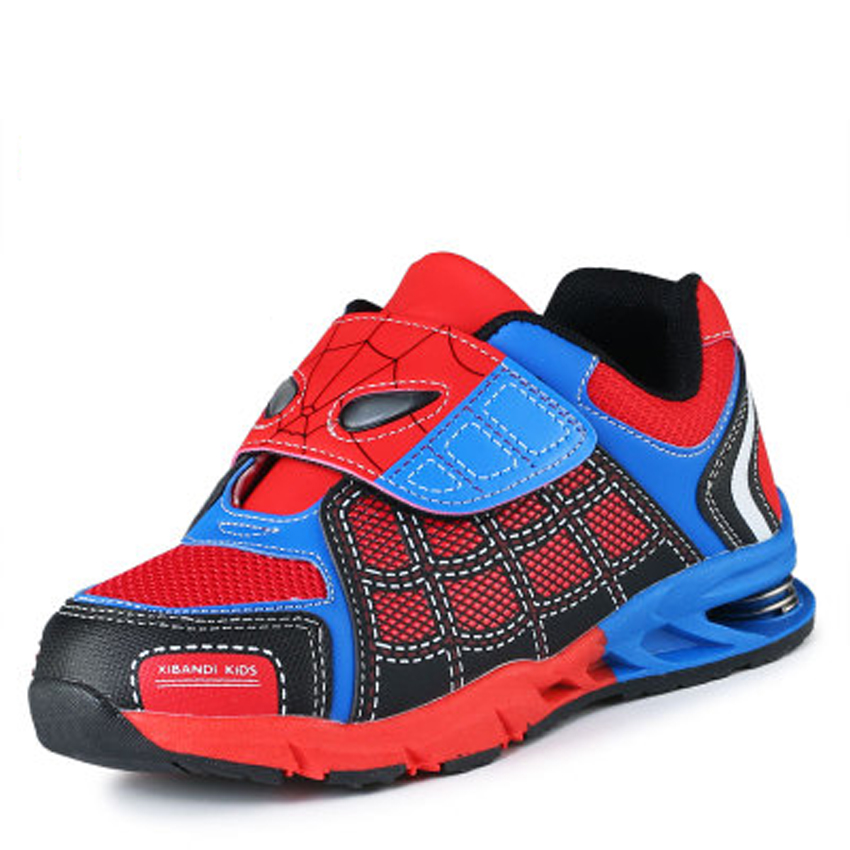 NEW 2015 Children school Shoes Spiderman Fashion Casual Shoes for big Boys Girls Spring Heel Kids Shoes Red
