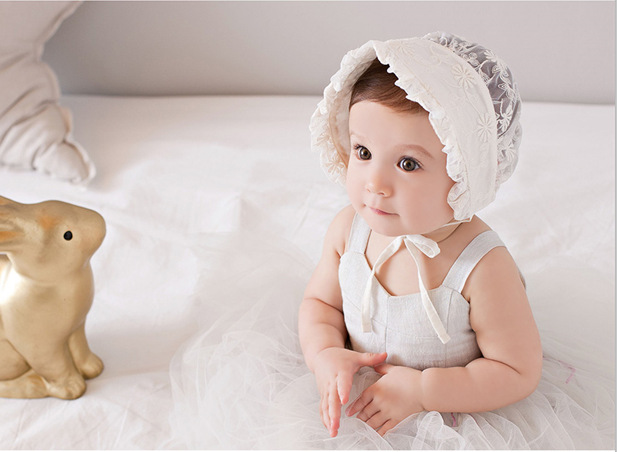 Sweet Lovely Cute Princess Children Kids Girls Baby Hat Beanie Pink New Lace Floral Caps photo - CM Seedings Jewelry store