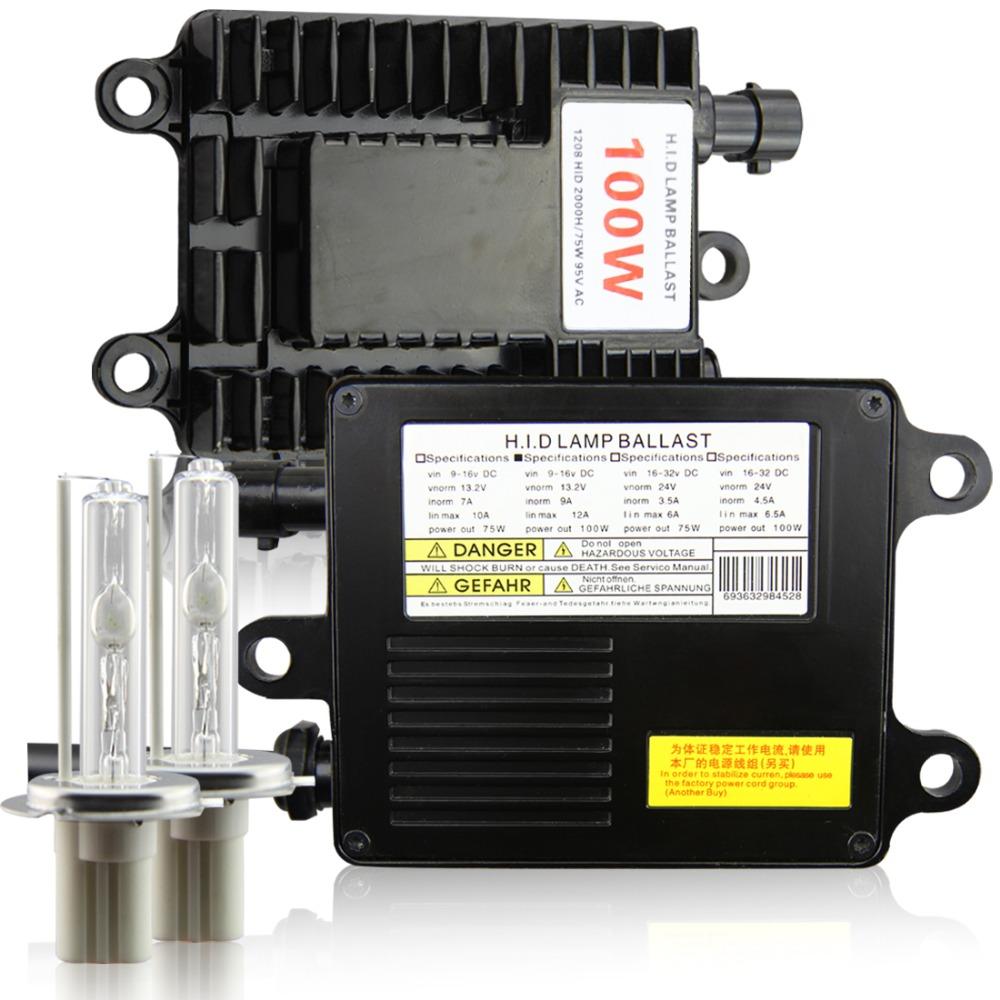 100w Xenon HID Kit H1 H3 H7 H8 H9 H10 H11 HB3/9005 HB4/9006 Lamp 4300k 5000k 6000k 8000k 12000k Super light - Startwayauto store