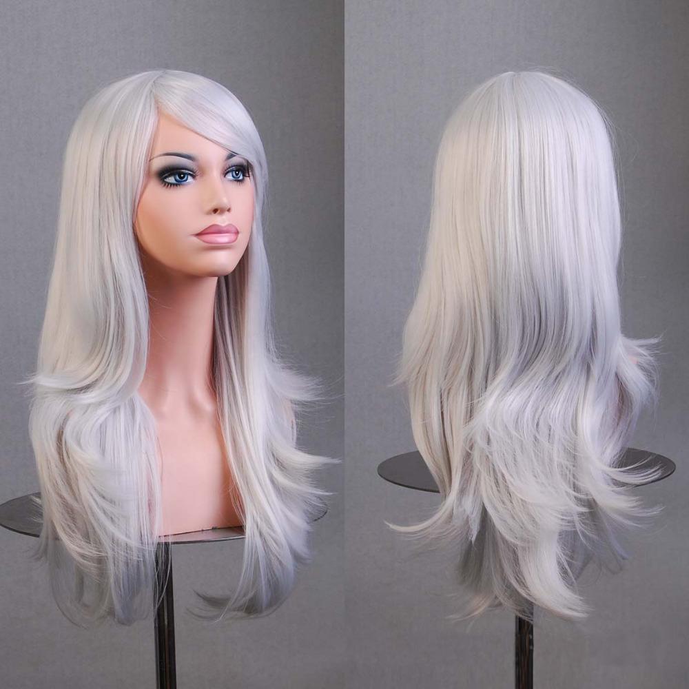 Hot Hatsune Miku Anime Wig Synthetic Hair Long Curly Wave peluca Cosplay Wig Gray Nicki minaj wig Perruque peruca femininas(China (Mainland))