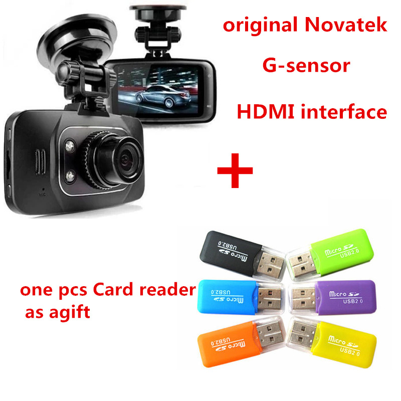 1Pcs Free Gift+100% Original GS8000L Novatek 2.7 inch 140 degree 25fps Car DVR 1920*1080P Vehicle Camera Voice Recorder GS8000(China (Mainland))