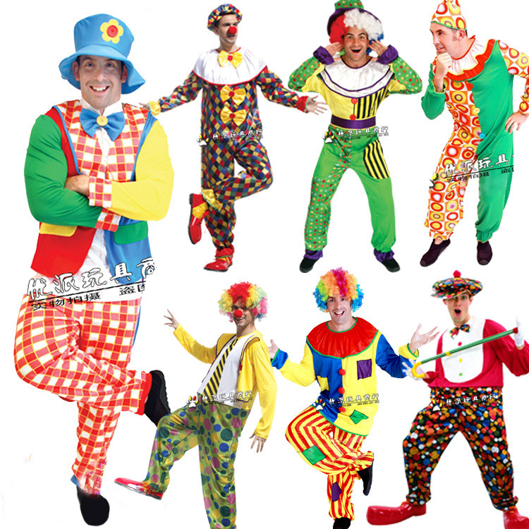 Hot Halloween circus clown cosplay costumes for adults different styles(China (Mainland))